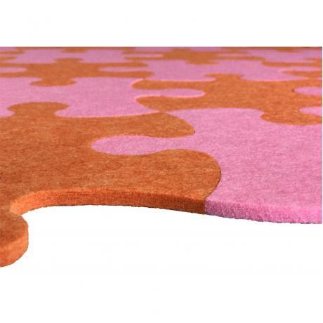 Смарт-коврик Mymatto Classic Оранжево-розовый