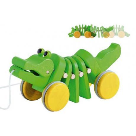 Каталка Plan Toys - Танцующий крокодил