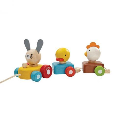 Сортер Plan Toys - Поезд с животными
