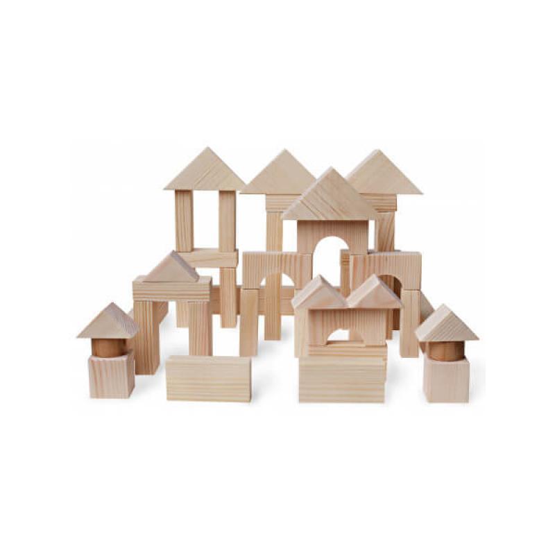 Деревянный конструктор Plan Toys 50 кубиков фото