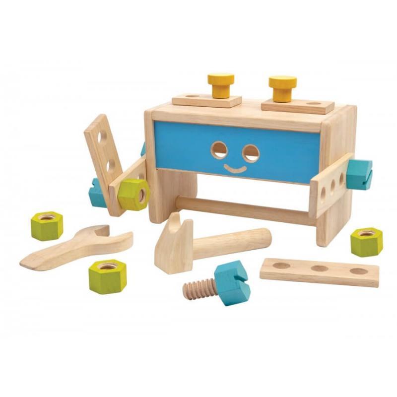 Деревянный конструктор Plan Toys Ящик для инструментов Робот фото