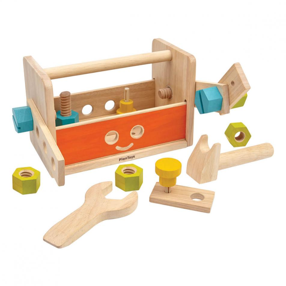 Деревянный конструктор Plan Toys Ящик для инструментов Робот