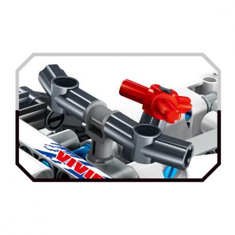 """Базовый 3D-Конструктор SDL KID-CONSTRUCT """"Кроссовер белый, 168 деталей"""""""