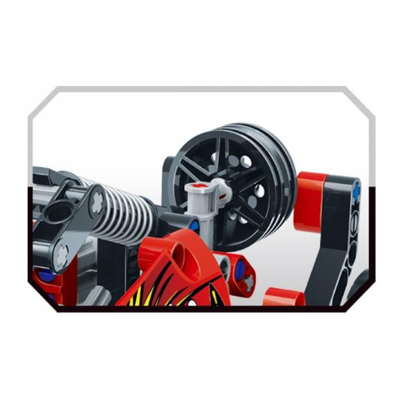 """Базовый 3D-Конструктор SDL KID-CONSTRUCT """"Кроссовер красный, 127 дет."""" фото"""
