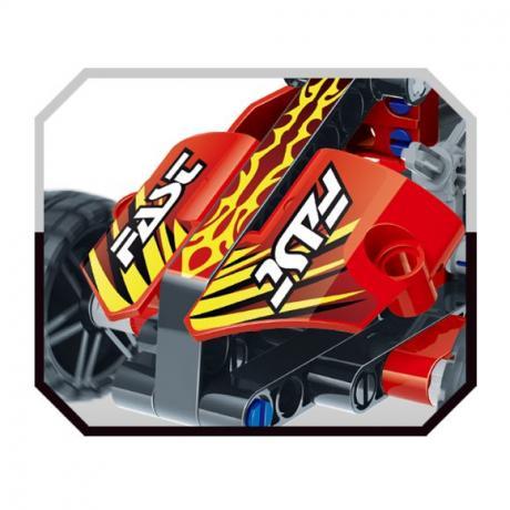 """Базовый 3D-Конструктор SDL KID-CONSTRUCT """"Кроссовер красный, 127 дет."""""""