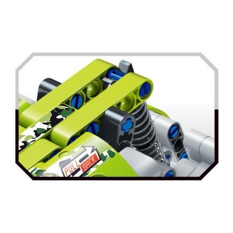 """Базовый 3D-Конструктор SDL KID-CONSTRUCT """"Кроссовер зеленый, 101 дет."""""""