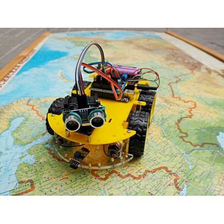 Конструктор Мобильные роботы на базе Arduino с книгой