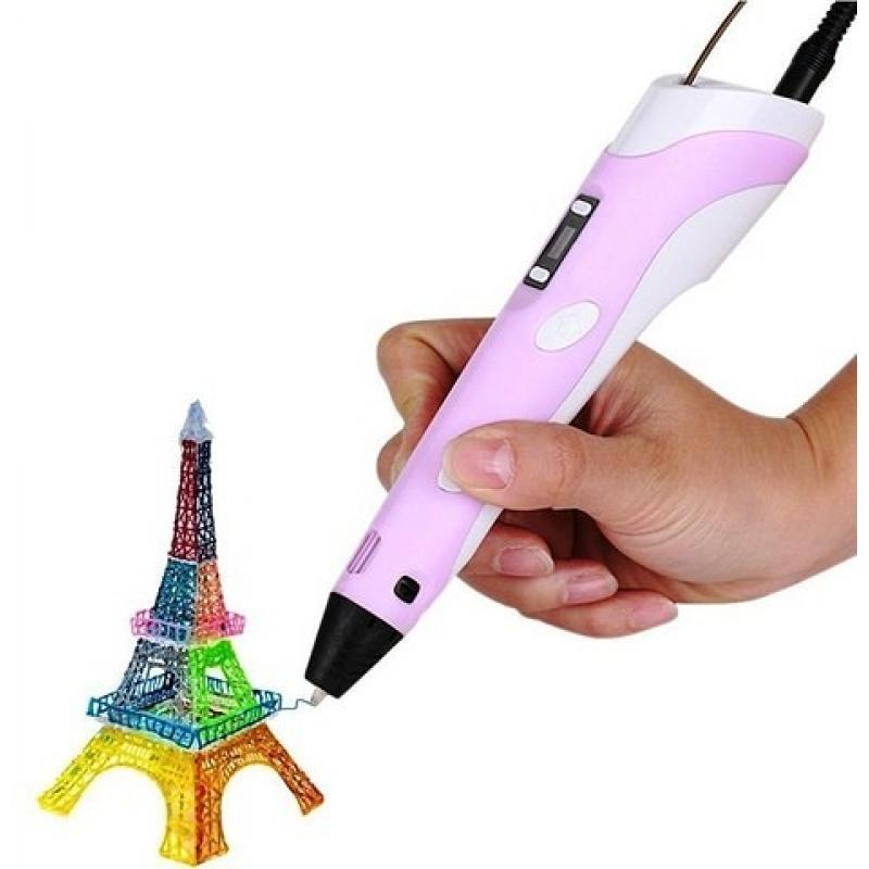 3D ручка Spider Pen PLUS с ЖК дисплеем фиолетовая фото