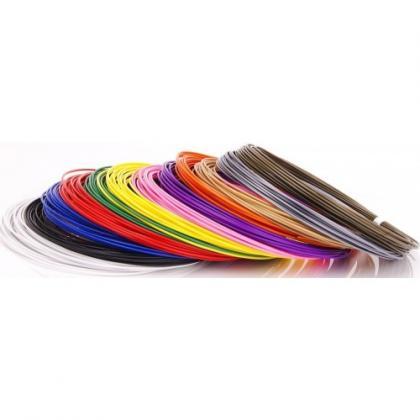 Пластик для 3D ручек ABS по 10 м. 12 цветов в коробке