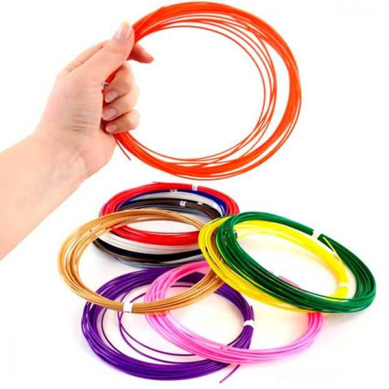 Пластик для 3D ручек ABS по 10 м. 12 цветов в коробке фото