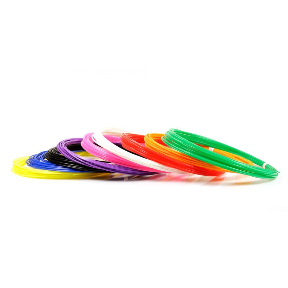 Пластик для 3D ручек PLA по 10 м. 9 цветов в коробке