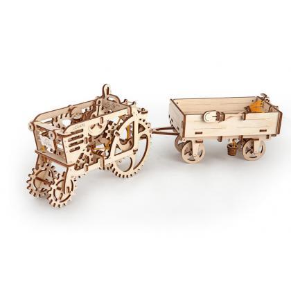 Конструктор из дерева Ugears Прицеп к трактору