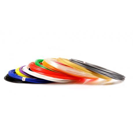 Пластик для 3D ручек PLA по 10 м. 12 цветов в коробке