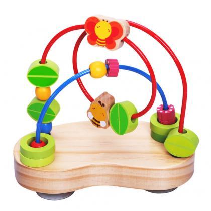 Логическая игрушка Vulpi Лабиринт с деревянными бусинами