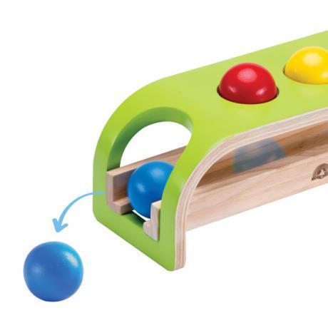 """Деревянная игрушка-стучалка с шарами """"Покатились"""""""