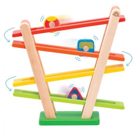 """Деревянная игрушка с катящимися роликами """"Радуга"""""""