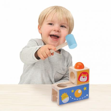 """Логическая игрушка-стучалка с шариком """"Сафари"""""""
