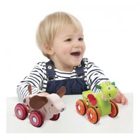 """Деревянная игрушка на колесах """"Щенок"""""""