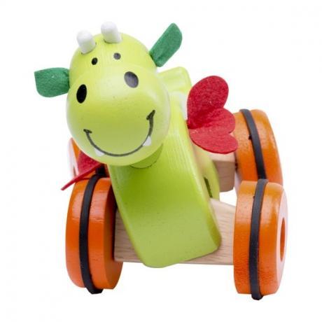 """Деревянная игрушка на колесах """"Дракоша"""""""
