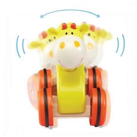"""Деревянная игрушка на колесах """"Жираф"""""""