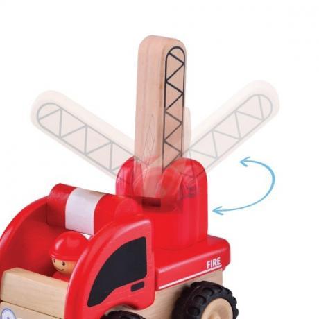 """Деревянная игрушка """"Пожарная машина, Miniworld"""""""