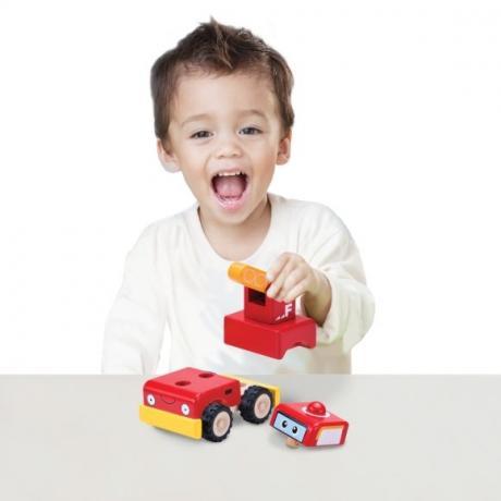 """Деревянная игрушка-конструктор """"Пожарная машина, Miniworld"""""""