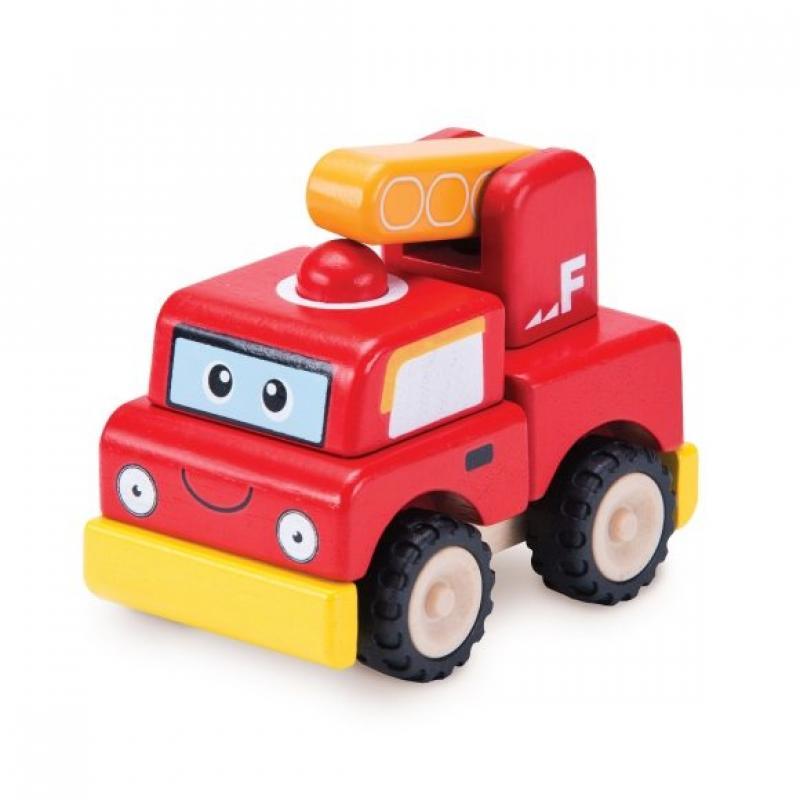 """Деревянная игрушка-конструктор """"Пожарная машина, Miniworld"""" фото"""