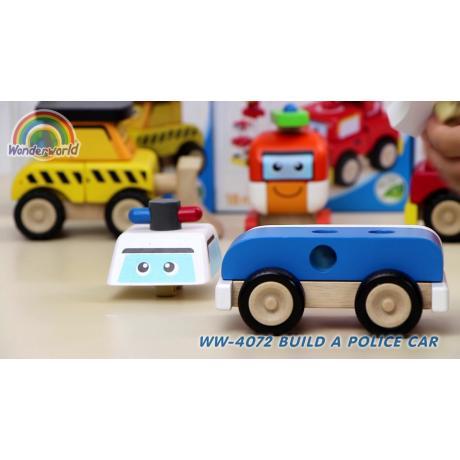 """Деревянная игрушка-конструктор """"Полицейская машина, Miniworld"""""""