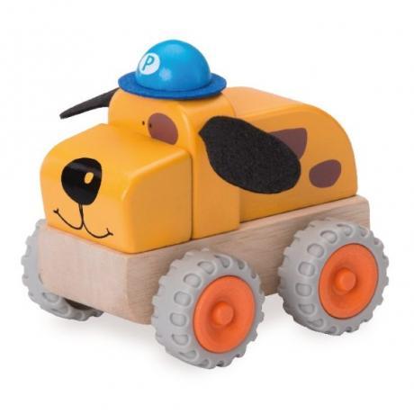 """Деревянная игрушка """"Полицейская машина Собачка, Miniworld"""""""