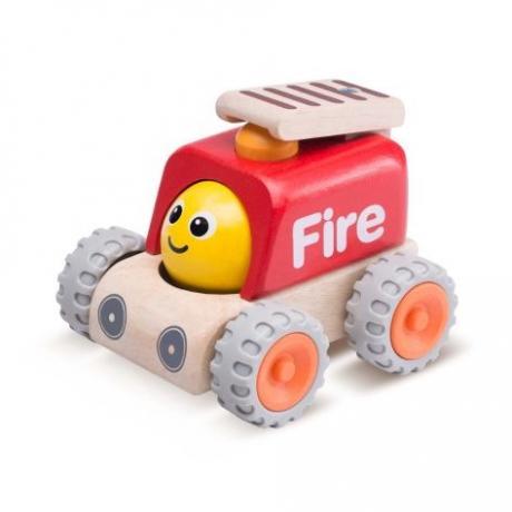"""Деревянная игрушка """"Пожарная машина с улыбкой, Miniworld"""""""