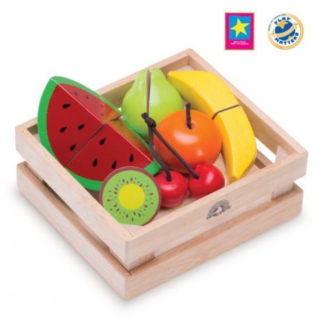 """Игровой набор """"Фрукты и ягоды для нарезки в ящике"""""""