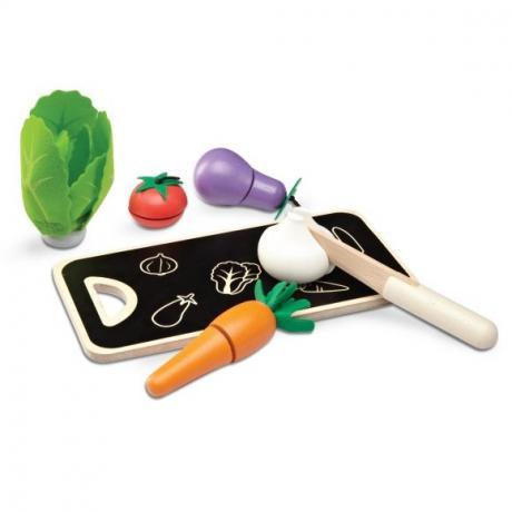 Набор овощей для чистки и нарезки, 5шт. с досточкой