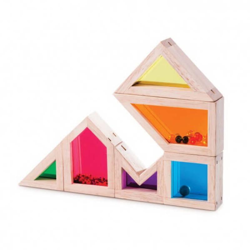 Деревянный конструктор Wonderworld Blocks - Цвет и Звук фото