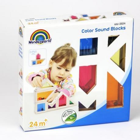 Деревянный конструктор Wonderworld Blocks - Цвет и Звук