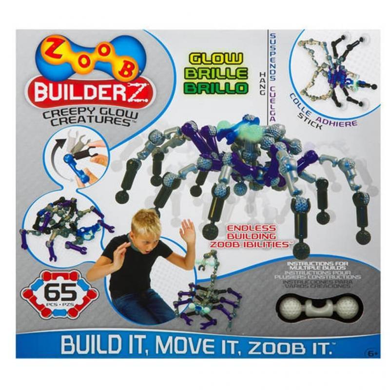 Подвижный конструктор ZOOB Glow Creepy Creatures фото