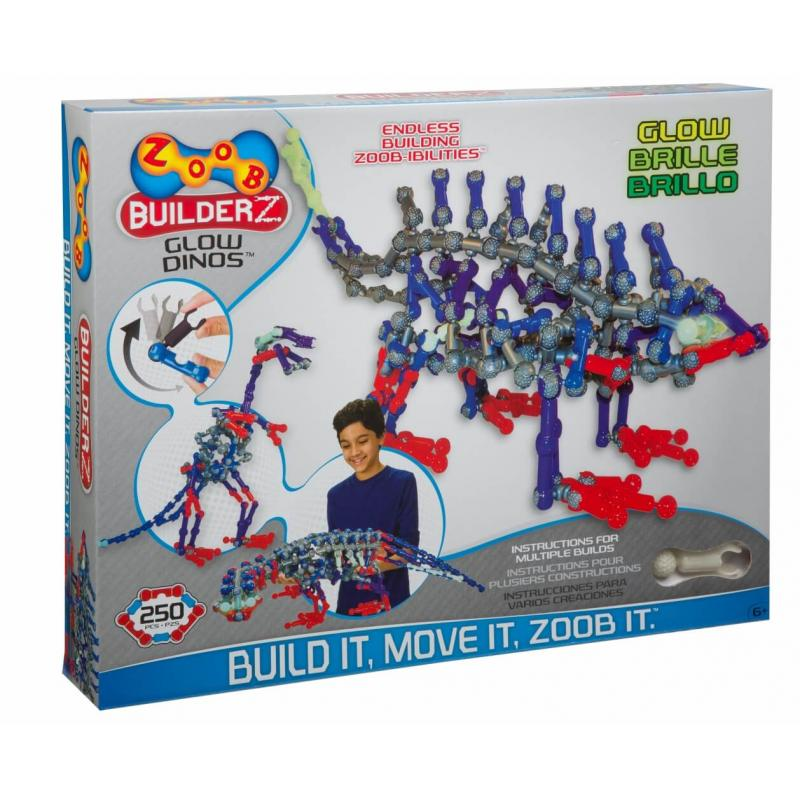 Подвижный конструктор ZOOB Glow Dinos фото