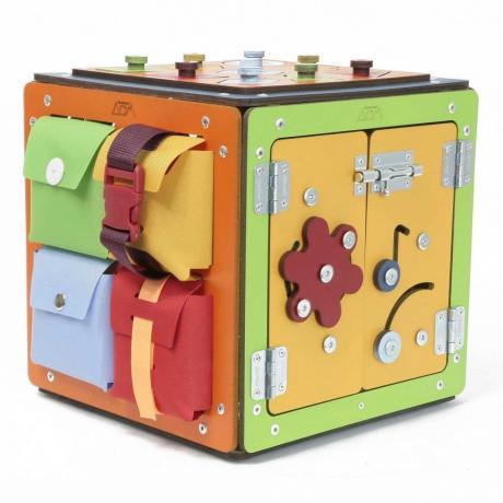 Бизиборд Занятный Куб 28х28 см