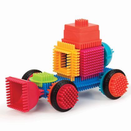 Игольчатый конструктор Battat Bristle Blocks - 50 в чемодане