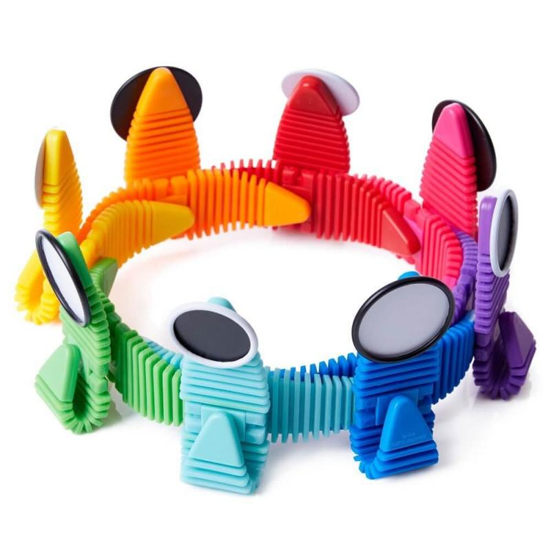 Гибкий магнитный конструктор WowWee Magnaflex Rainbow Set фото