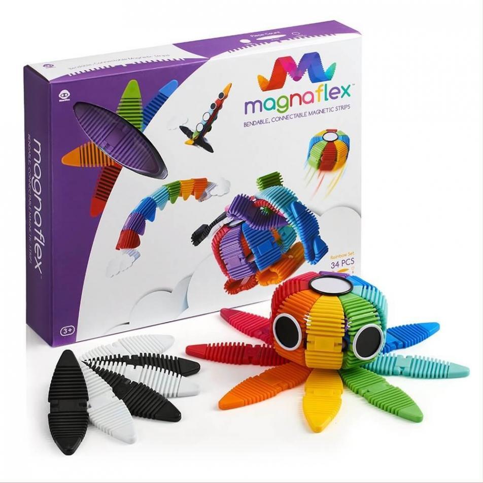 Гибкий магнитный конструктор WowWee Magnaflex Rainbow Set